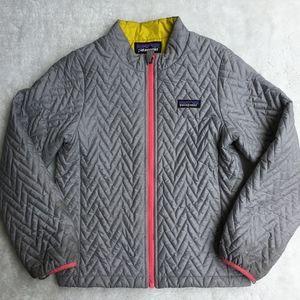 Patagonia Full Zip Girls Gray Jacket Size 7-8